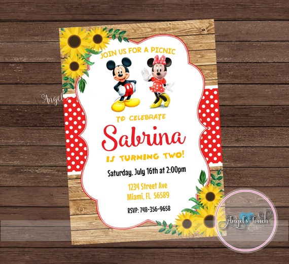 mickey and minnie mouse party invitation mickey and minnie etsy