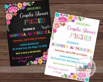 Fiesta Couples Shower Invitation, Fiesta Bridal Shower, Fiesta Mexicana Couples Shower Invitation, Mexican Fiesta Invitation, Digital File