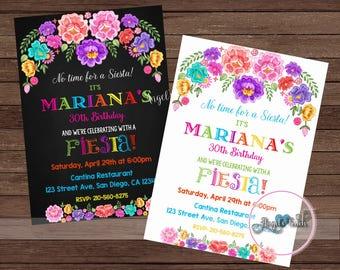 Fiesta Invitation, Fiesta Birthday Party Invitation, Mexican Fiesta Birthday Party Invitation, Fiesta Mexicana Invitation, Digital File