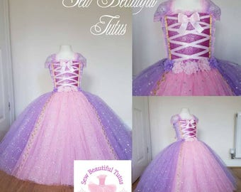 00953af36 Rapunzel Sparkle Ball Gown Girl tutu dress - Fun Party Outfit Fancy Cute  Birthday