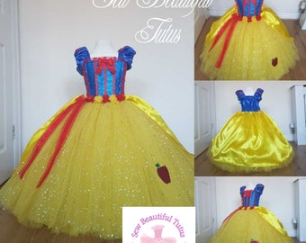 1e92031755 Snow white Sparkle tulle Ball Gown Girl tutu dress with silky satin overlay  - Fun Party Outfit Fancy Cute Birthday