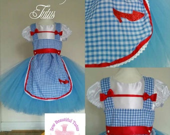 Dorothy from Wizard of Oz inspired Tutu Dress  Fun Party Outfit Cute Birthday Photo shoot