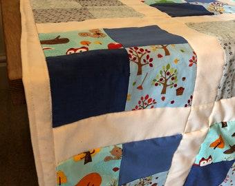 Woodland block blanket