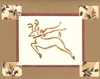 Handmade Christmas card - Christmas Reindeer