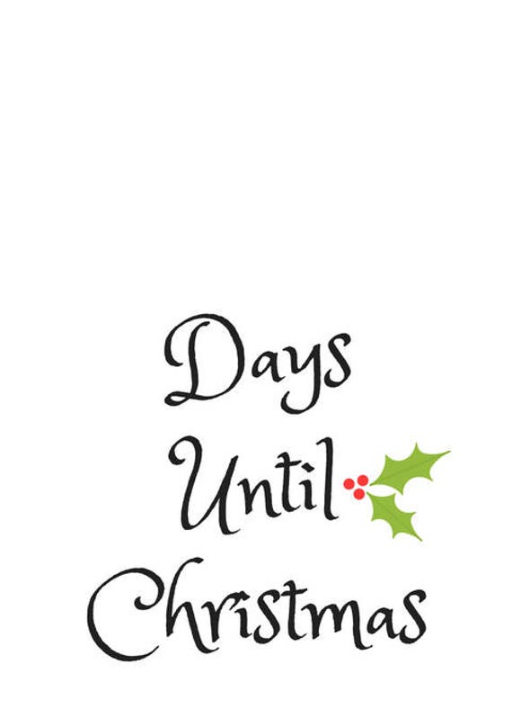 Days Until Christmas.Blank Days Until Christmas Printable Pdf
