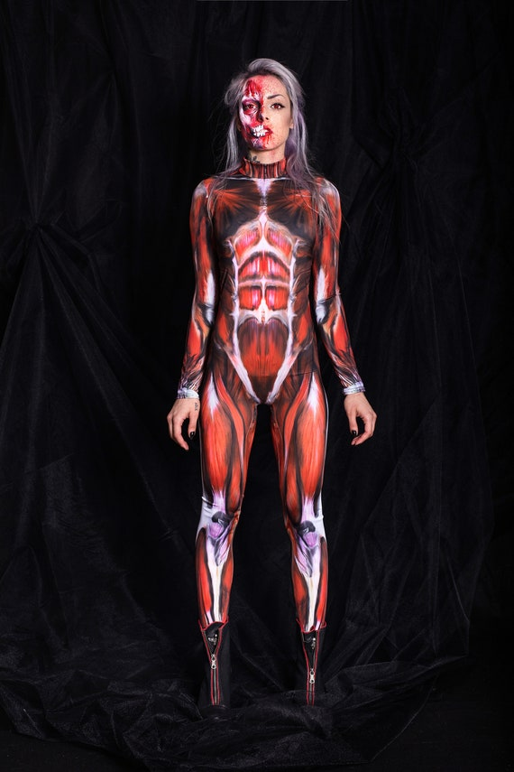 Muscle Suit Halloween Catsuit Catsuit For Women Cosplay Suit Women Catsuit Scary Halloween Costume Attack On Titan Women Bodysuit