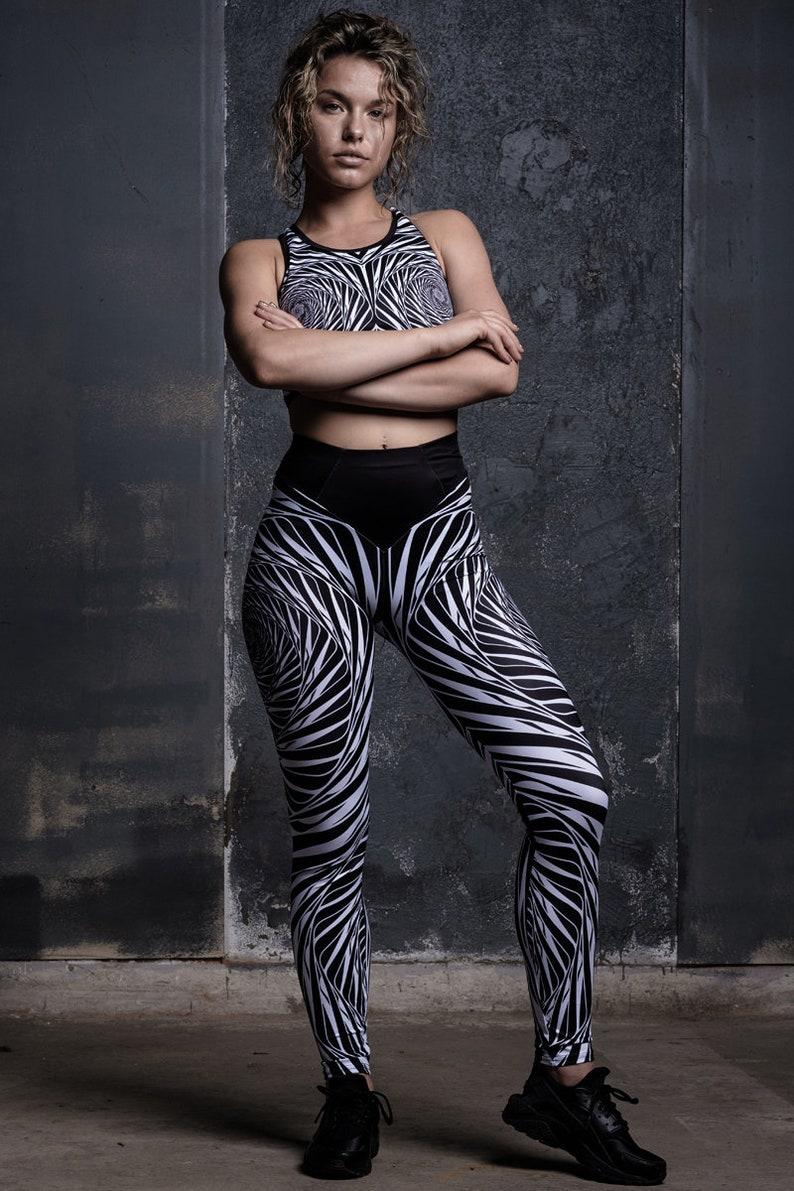plus size leggings for yoga workout leggings for women best leggings Black /& White High Waisted Leggings 2 piece set shaping leggings