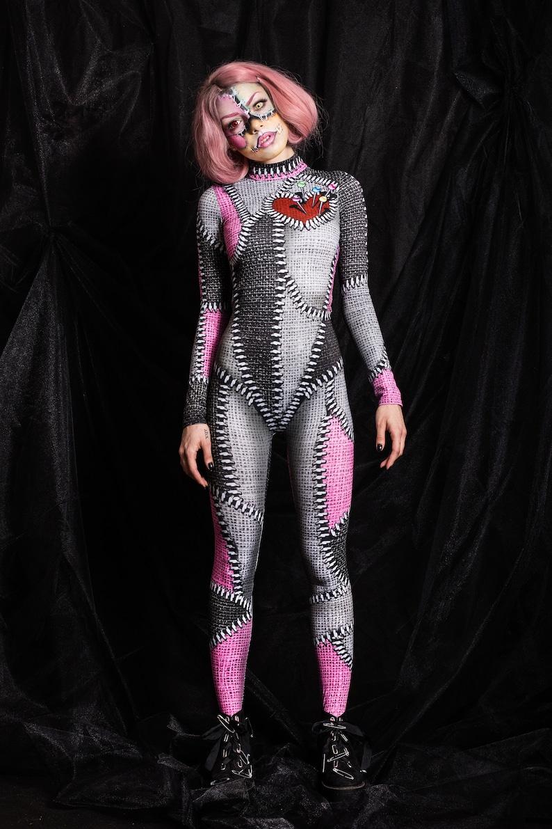 0fd3569236dd9e Voodoo-Catsuit Voodoo Puppe Body Zombie Body Body Frauen | Etsy