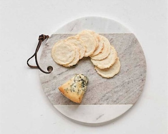 Round Marble Cheese Board | Cheese Plate | FREE SHIPPING : marble cheese plate - pezcame.com