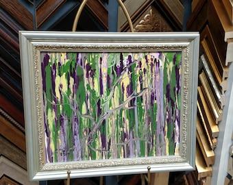 "Pacific Northwest Rain 14X11"" acrylic Original CC WILLOW Art"