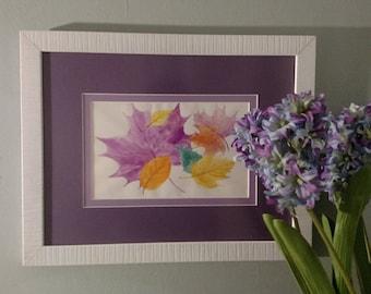 "Soft Fall watercolor 8X5"" Original CC WILLOW Art"