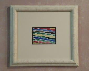 "Summer Ribbons 6X4.5"" watercolor Original CC WILLOW Art"