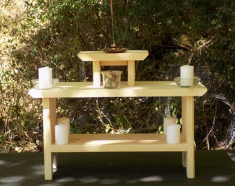 Altar,3 Tier Meditation Altar,Meditation altar,Shrine with Pedestal,Shrine with kit,Alter,Alter shelf,Table top