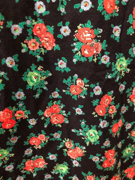 Vintage 70s midi dress-Gunne style-Pretty floral … - image 6
