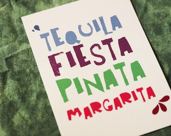 "Postcard ""Tequila"" / deco correspondence stationery"