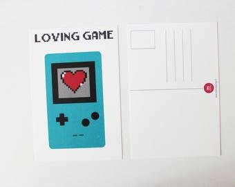Postcard loving game