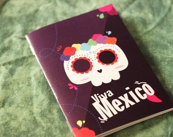 """""""Viva Mexico!"""" notebook / planner mexico matching skull Mexican flowers"""