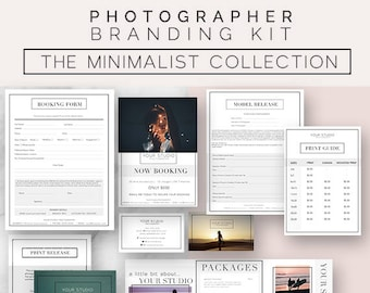 Photography, Marketing, Kit, Photographer, Templates, Business, Photography Forms, Branding Kit, Marketing Sets, Photoshop, Minimalist,