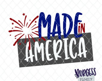 made in america firework clipart 4th of july independence day cuttable file wood sign svg dxf eps png