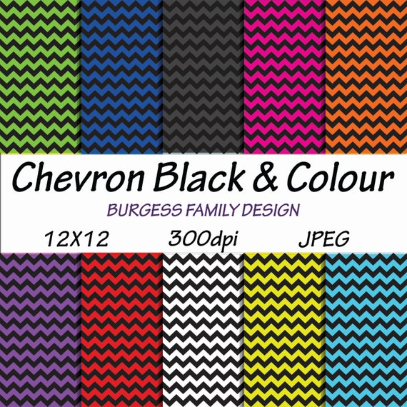 Sale Digital Scrapbook Paper 12x12 Black And Colour Etsy