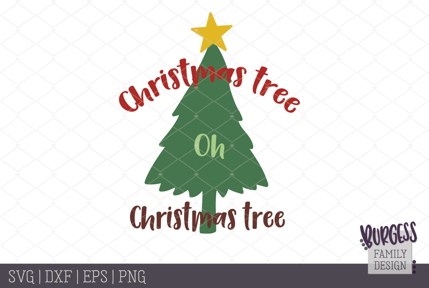 Christmas tree oh Christmas tree svg dxf eps png | Etsy