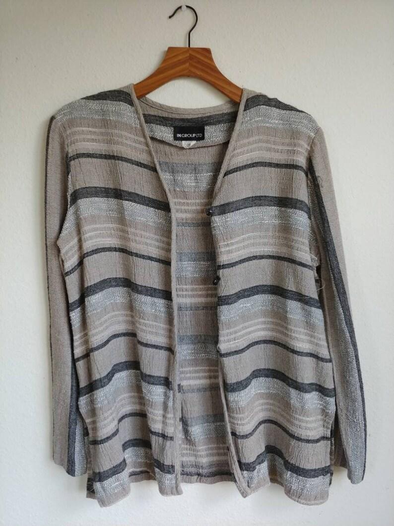 Vintage Neutral Stripe Cardigan