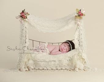 digital backdrop , background  newborn  boy or girl fur cream toddler