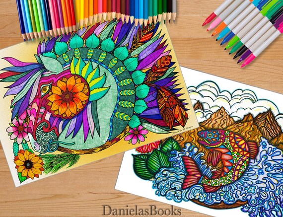 Colorado Coloring Book - 12x18 inches - Advanced Coloring Books for Adults  by DanielasBooks