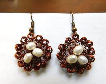 Pearls and copper Rococo