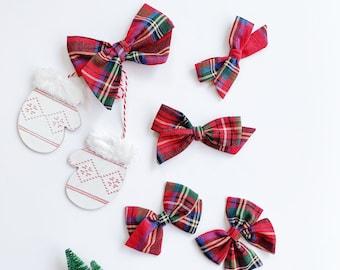 Pretty Disturbia Red Tartan Handmade hair bow Mothers Day Gift