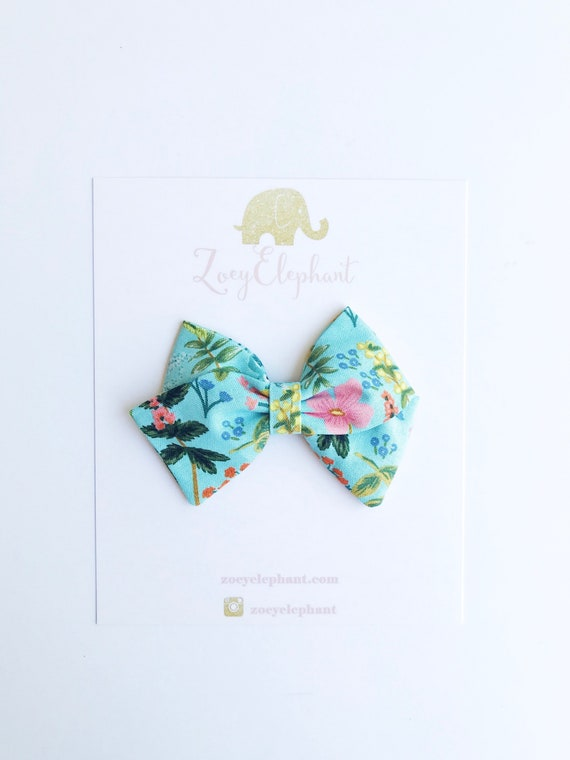 Baby soft Headband  Toddler Bow  Clip option  Hair Accessory for Baby  Rifle Paper co Baby bow