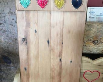 Reclaimed wood calendar holder