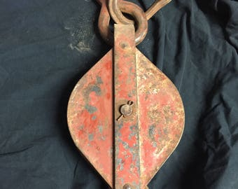 Antique barn pulley