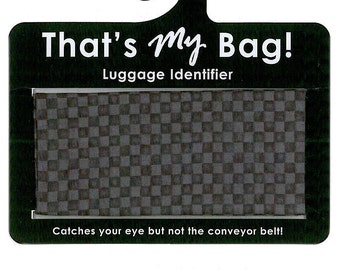 That's My Bag - Black Checkers