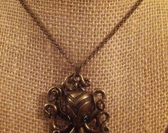 Bronze Kraken Necklace