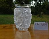 Vintage Lalique France Frosted Crystal Pre-1978 quot Bagatelle quot Bird Vase Signed