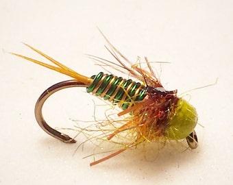 copper john, fly fishing flies, nymphs, fly fishing, fishing, size 12