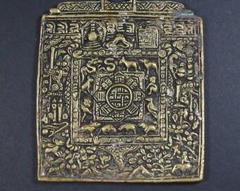 Traditional Vintage Tibetan Buddhist Calendar