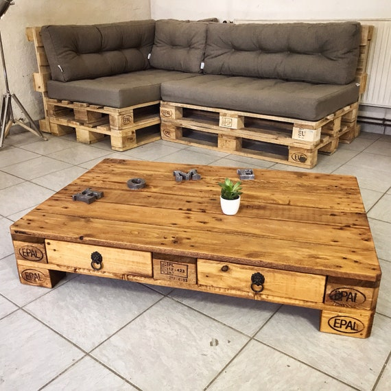 Palettentisch Shabby Lounge Table Teak Etsy