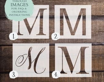 Letter stencils etsy letter stencil or decal monogram stencil or decal one time use adhesive vinyl stencil reverse vinyl stencil vinyl decal spiritdancerdesigns Images