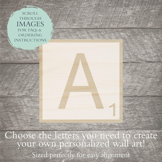 Scrabble Letter Stencil Or Decal Letter Stencil Letter Etsy