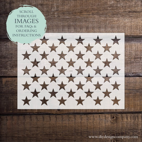 American Flag Stars Stencil Or Decal One Time Use Adhesive Etsy