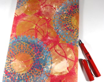Handmade and Printed Journal or Notebook Cover