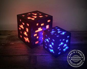 "THE ORIGINAL Minecraft ""Inspired"" Ore Lamp, Nightlight, LED, Gamer Lamp, Nerd Gear, Mine Craft"
