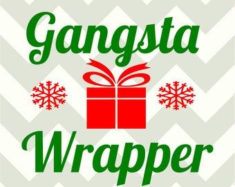 Gangsta Wrapper-SVG-DXF cut files