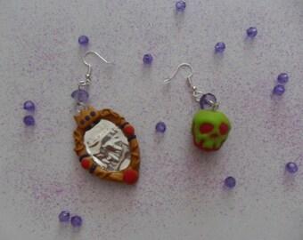 """Evil Queen"" earrings"