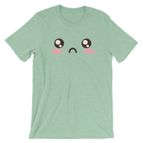 WTF Emoji Emoticon Sad Face Kawaii Meme   WTF shirt Short-Sleeve Unisex  T-Shirt