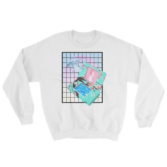 Dolphins Vaporwave Aesthetic | Kawaii Streetwear Sweatshirt by Etsy