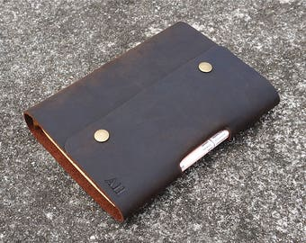 Mens journal Personalized journal leather personalized journal leather notebook refillable leather journal line paper leather journal