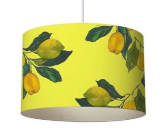 Lemon lamp shade etsy patterned lampshade designer lampshade lemon lampshade ceiling lampshade contemporary lampshade yellow lampshade standard lampshade aloadofball Image collections
